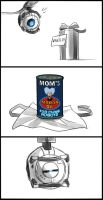 Portal/Futurama: Mom's moron oil by pinali