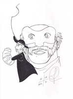 Oaken as Clopin - Lineart by Jujubesca