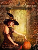 Autumn Witch by AngeliaArt