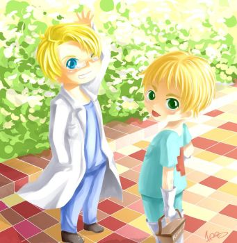 doctor hero and arthur by chikyuu79