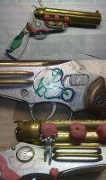 Steampunk Gruenwald Atlas Pepperbox Pistol 2.0 WIP by Arsenal-Best