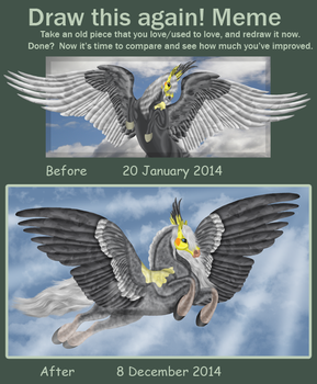 Improvement meme - Feathers on display by FlightDesigns