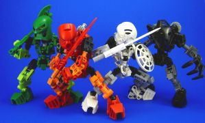 Bionicle - 4 Toa by Lalam24