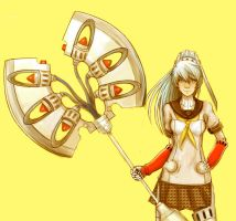 Shadow Labrys (Colored) by Ninkaytoo