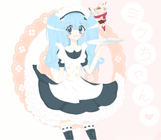 Miku Maid by Melonchu