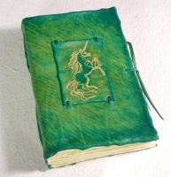Mythical Unicorn Diary by gildbookbinders