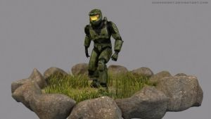 Master Chief-lowpoly by ChaosSight
