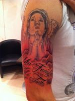 Christian-ish Tattoo - Family is everything by Lucifine666