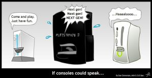 If consoles could speak by Purple-Plasmid