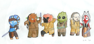 Random group of Jedis by Shaiger