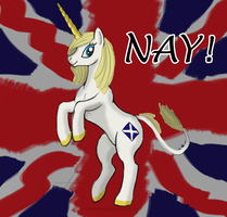 Brave Unicorn of Scotland by Infrasonicman