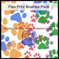 Paw Print Brushes Pack by Circe-Baka