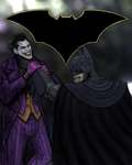 Batman and The Joker by Shitmonlee