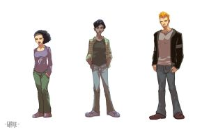 Character Designs by johnnymorbius