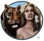 The Lady and the Tiger by Pixel-Slinger