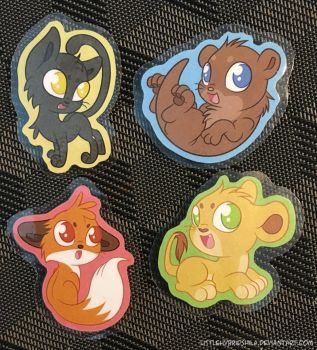 Cute animal magnets by LittleHybridShila
