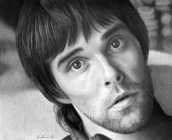 Ian Brown (Pencil on paper) by StephenAinsworth