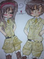 (Fem! Original) Romano- Lovino and Lovina Vargas by manajiwinp