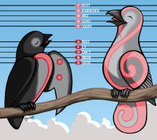 Clef Birdies by keinneb