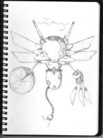 butterfly robot by Robot-drawing-club