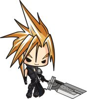 Final Fantasy 7 Cloud Strife Chibi by houssamica