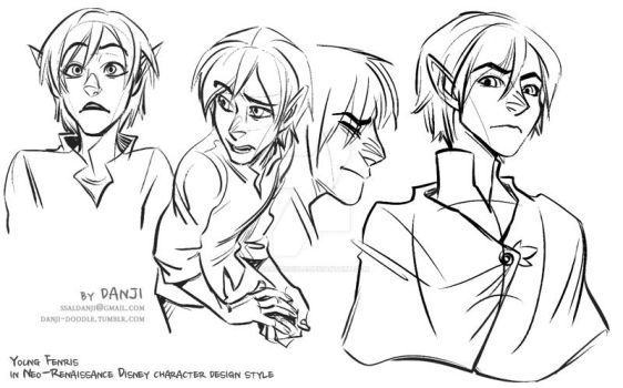 Neo Disney style young Fenris by DanjiDoodle