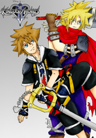 Sora and Cloud by 1Kasumi