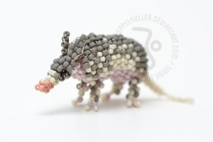 Nine banded Armadillo by ZimtBeadwork