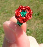 Teeny little flower by chainmaille