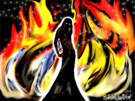 Lady in Flames by sphinxfalcon