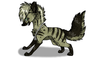 Art trade - HellhoundHyena by GGFOX22