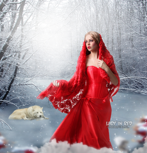 Lady In Red (Snow is Falling) by maRKE0