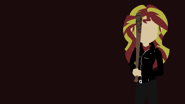Negan Sunset Shimmer Wallpapper!! by ngrycritic