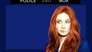 Amy Pond BG by vaclavART