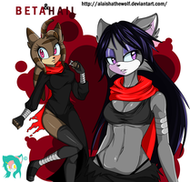 PC.:Beta and Hail:.Sexys Ninjas.:. by AlaishaTheWolf