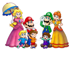 Super Mario: Family Stroll (WIP) by Allenare