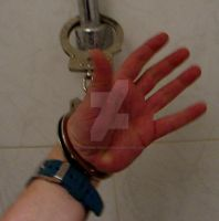 Hand handcuffed in/to bathroom. by SneakerBoyBondage