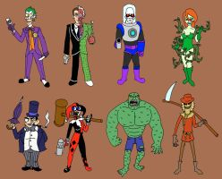 Gotham City villains by EarthVStheDerek