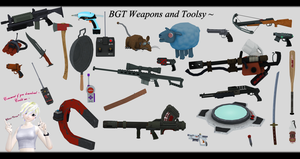 [MMD] BGT Weapons and Tools DL ~ by o-DeadSilverVirus-o