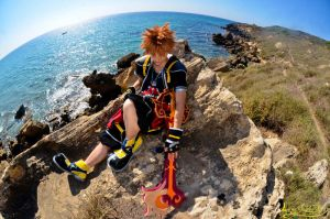 Kingdom Hearts world  :---Sora Cosplay---: by Laurelin-CosPlay