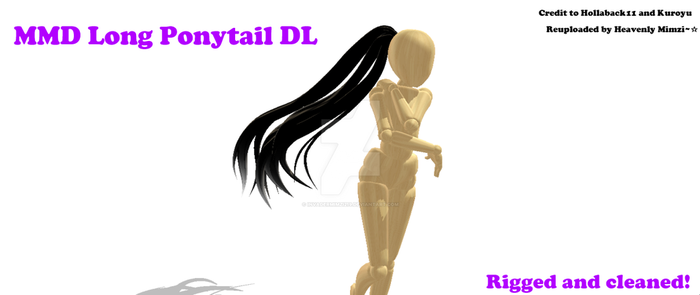 MMD- Long Ponytail DL [Reuploaded] by InvaderMimzi219