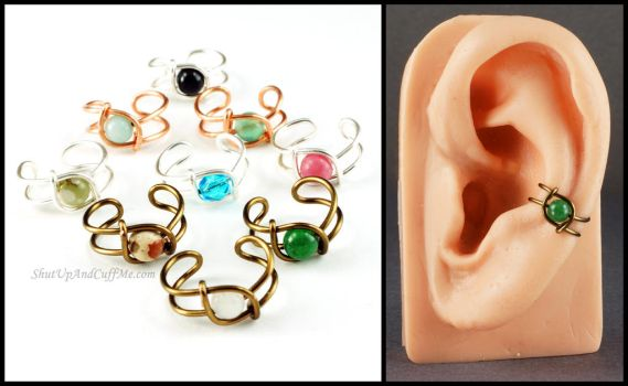Simple Bead Ear Cuff by Gailavira