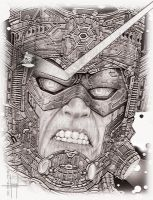 Galactus and the Surfer by GraphixRob