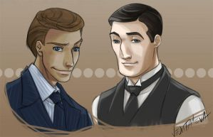 Jeeves and Wooster by vejiicakes