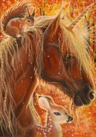 ACEO 487 - Aglow by DawnUnicorn