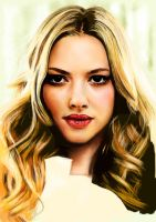 Work in progress: iPad painting of Amanda Seyfried by chaseroflight