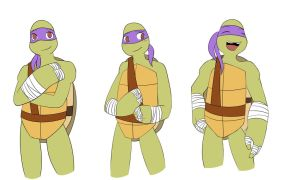 TMNTDatingSim - Donnie Expressions WIP [Part 1] by cartoonartist