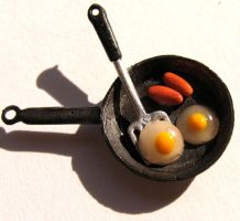 Eggs and Sausage by MotherMayIjewelry