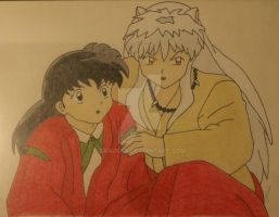 Inuyasha and Kagome by Drauska