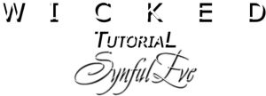 Wicked tutorial by SynfulEve